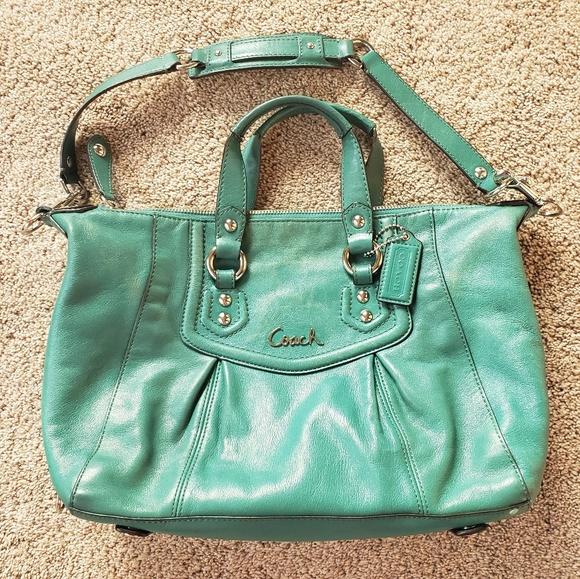 Coach Handbags - 🌿Coach Teal Ashley Satchel Bag🌿
